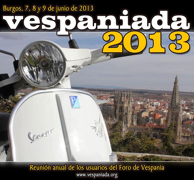 La 8ª Vespaniada se celebrará del 7 al 9 de junio de 2013 en Burgos